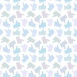 Naadloos patroon Lichte Duim op Pictogrammen Royalty-vrije Stock Afbeelding