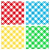 Naadloos patroon - lijstdoek Stock Fotografie