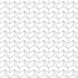 Naadloos patroon - lineaire abstracte geometrische achtergrond Stock Afbeelding