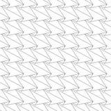 Naadloos patroon - lineaire abstracte geometrische achtergrond Stock Fotografie