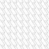 Naadloos patroon - lineaire abstracte geometrische achtergrond Royalty-vrije Stock Foto