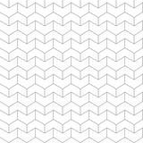 Naadloos patroon - lineaire geometrische abstracte achtergrond Royalty-vrije Stock Afbeelding