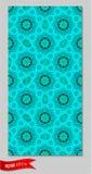 Naadloos patroon, mandala, vectorgrafiek Indische Stijl Stock Foto's