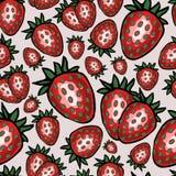 Naadloos patroon met aardbei, vectorillustratie Stock Foto