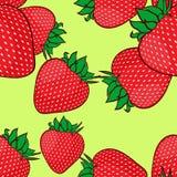 Naadloos patroon met aardbeien. Stock Fotografie