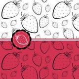 Naadloos patroon met aardbeien Stock Afbeeldingen