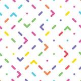 Naadloos patroon met abstract kleurrijk ornament Stock Foto