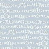 Naadloos patroon met abstract krabbelornament Stock Afbeelding