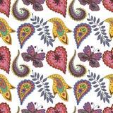 Naadloos patroon met abstracte bloemen Royalty-vrije Stock Fotografie