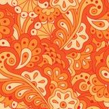 Naadloos patroon met abstracte bloemen Stock Afbeeldingen