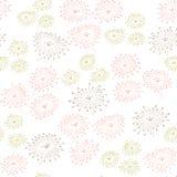 Naadloos patroon met abstracte bloemen Eindeloze pastelkleurachtergrond Malplaatje voor ontwerp en decoratie Royalty-vrije Stock Foto