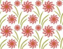 Naadloos patroon met abstracte donkerrode bloemen Royalty-vrije Stock Afbeelding