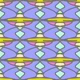 Naadloos patroon met abstracte elementen Stock Afbeeldingen