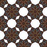 Naadloos patroon met abstracte etnische elementen Stock Fotografie