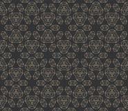 Naadloos patroon met abstracte geometrische vormen Stock Afbeeldingen