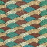 Naadloos patroon met abstracte golventextuur Stock Fotografie
