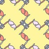 Naadloos patroon met abstracte ornamenten Royalty-vrije Stock Afbeelding