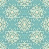 Naadloos patroon met abstracte sneeuwvlokken Eindeloos patroon voor Kerstmis verpakkende kaarten of verpakkend document Stock Foto