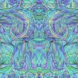 Naadloos patroon met abstracte verenvector 9 vector illustratie