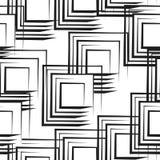 Naadloos patroon met abstracte zwart-witte vierkanten Royalty-vrije Stock Fotografie