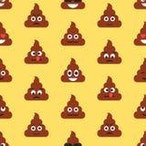 Naadloos patroon met achterschip emojies Emoticonsachtergrond Textuur Stock Fotografie