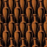 Naadloos patroon met amfora royalty-vrije illustratie
