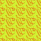 Naadloos patroon met appelcider vector illustratie