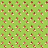 Naadloos patroon met appelen royalty-vrije illustratie