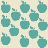 Naadloos patroon met appelen Stock Illustratie
