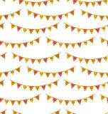 Naadloos Patroon met Autumn Bright Buntings Royalty-vrije Stock Foto's