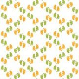 Naadloos patroon met babyvoetafdruk Stock Fotografie