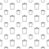 Naadloos patroon met bak Stock Foto's
