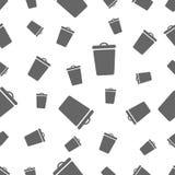 Naadloos patroon met bak Stock Afbeelding