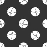 Naadloos patroon met bal Stock Fotografie