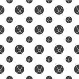 Naadloos patroon met bal Royalty-vrije Stock Afbeeldingen