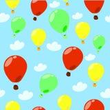 Naadloos patroon met ballons Stock Illustratie