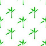 Naadloos patroon met banaanboom Royalty-vrije Stock Fotografie
