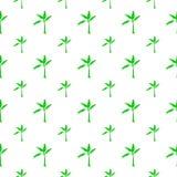 Naadloos patroon met banaanboom Royalty-vrije Stock Afbeelding