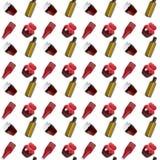 Naadloos patroon met banken en flessen op een witte achtergrond vector illustratie