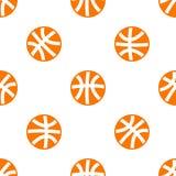 Naadloos patroon met basketbal Stock Afbeeldingen