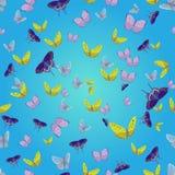 Naadloos patroon met batterflies Stock Foto's