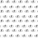 Naadloos patroon met batterij Stock Afbeeldingen