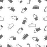 Naadloos patroon met batterij Stock Afbeelding
