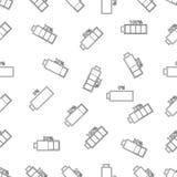 Naadloos patroon met batterij Stock Foto's