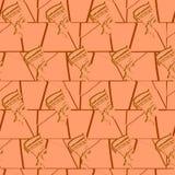 Naadloos patroon met beelden van pharaohs Stock Foto's