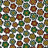 Naadloos patroon met beeldverhaalbloemen stock illustratie