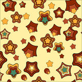 Naadloos patroon met begin Stock Afbeelding