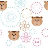 Naadloos patroon met beren Stock Afbeeldingen