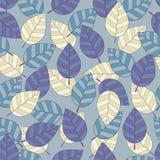Naadloos patroon met blad, abstracte bladtextuur Royalty-vrije Stock Afbeeldingen