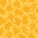 Naadloos patroon met blad, de achtergrond van het de herfstblad Royalty-vrije Stock Foto's